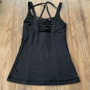 Lululemon strappy black tank top